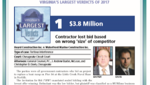 General Counsel PC Wins Largest Virginia Verdict of 2017
