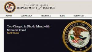 First DOJ Government Stimulus Fraud Case