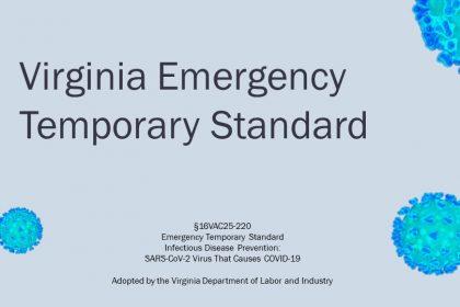Virginia Emrgency Covid-19 Mandatory Standard for Employers