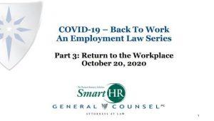Covid-19 Employment Law Webinar