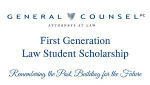 First Generation Law Student Scholarship