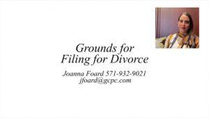 Video explaining grounds for divorce in Virginia