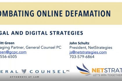 Dealing with online defamation in the modern age