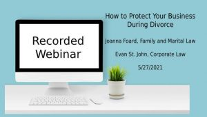 How to Protect Your Business in a Divorce