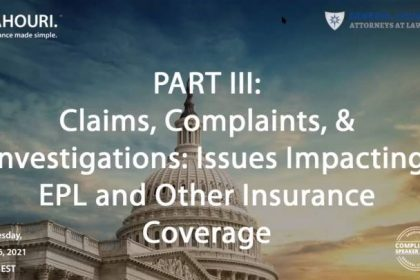 Government Contract Issues Impacting EPL and Other Insurance Coverage